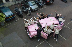 taxi rose TaxiFun Team Car Gemmyo joaillier Paris fun fashion-week