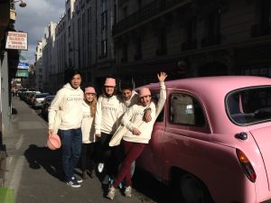 taxi rose TaxiFun Team Car Gemmyo joaillier Paris fun fashion-week