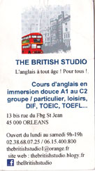 """""""The British Studio"""", dans """"Nos Partenaires"""" sur TaxiFun.fr"""