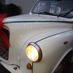 """Noël chez TaxiFun: Le """"Taxi Blanc"""" comme voiture du Père Noël"""