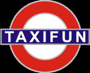 taxiFun le spécialiste du taxi anglais en France logo site web site internet location taxi anglais avec chaffeur tout événement so british london cab yellow cab taxi anglais taxi new-yorkais