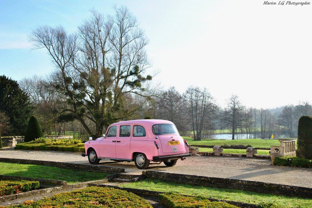 unique taxi anglais rose