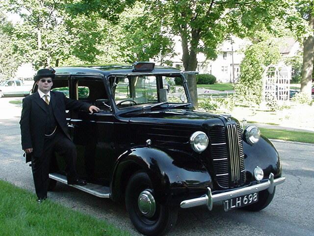 taxi anglais noir classique Londres