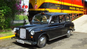 Un taxi anglais FX4 Fairway au Panama taxis of the world so british location événements