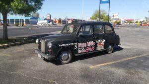 taxis fo the world, actu taxifun, taxi anglais, las vegas, le strip de las vegas, pub anglais, voiture de publicité