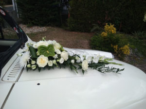 mariage taxi anglais blanc TaxiFun voiture de mariage événement