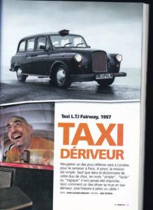 taxi anglais Autoretro TaxiFun roadtrip Angleterre Londres Black Cab Mille bornes en taxi anglais