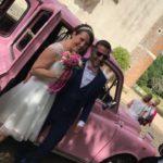 Mariage ent axi anglais rose avec chauffeur à Blois, Centre Val de Loire