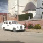 mariage taxi anglais blanc location voiture de mariage avec chauffeur blackcab Cambrai Hauts-de6France