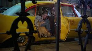 Yellow Cab taxi New Yorkais jaune Audrey Hepburn Breakfast at Tiffany's Diamants sur Canapé cinéma cinema tournage