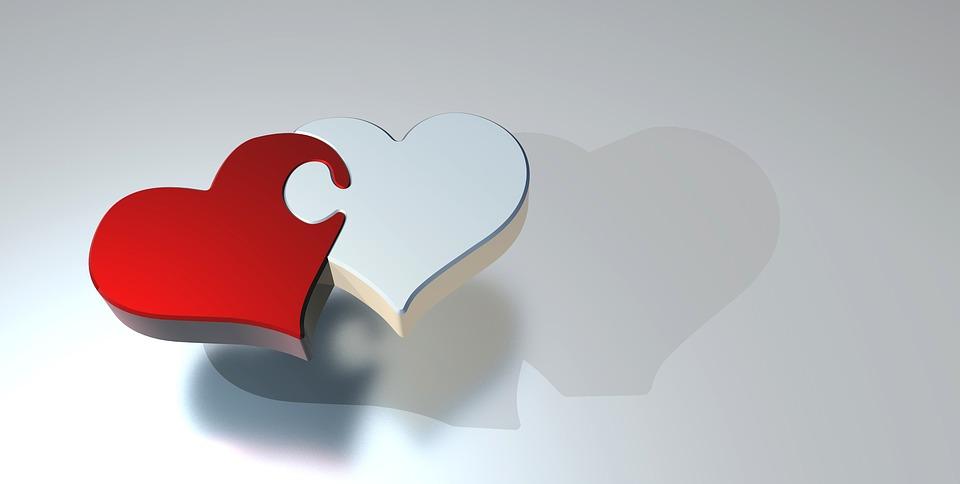 Le beau mot de TaxiFun Amour deux coeurs liés coeurs joints optimisme solidarité intimité destins liés