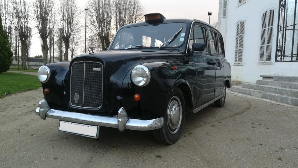 taxi anglais noir pare chocs chromes