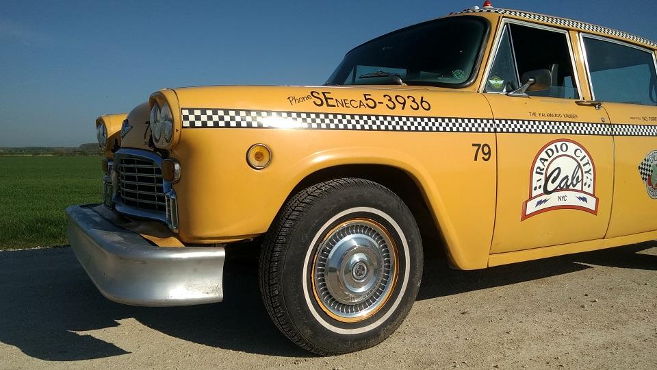 TaxiFun Location taxi New Yorkais Yellow Cab avec chauffeur Mariage Evénement Tournage Checker Marathon