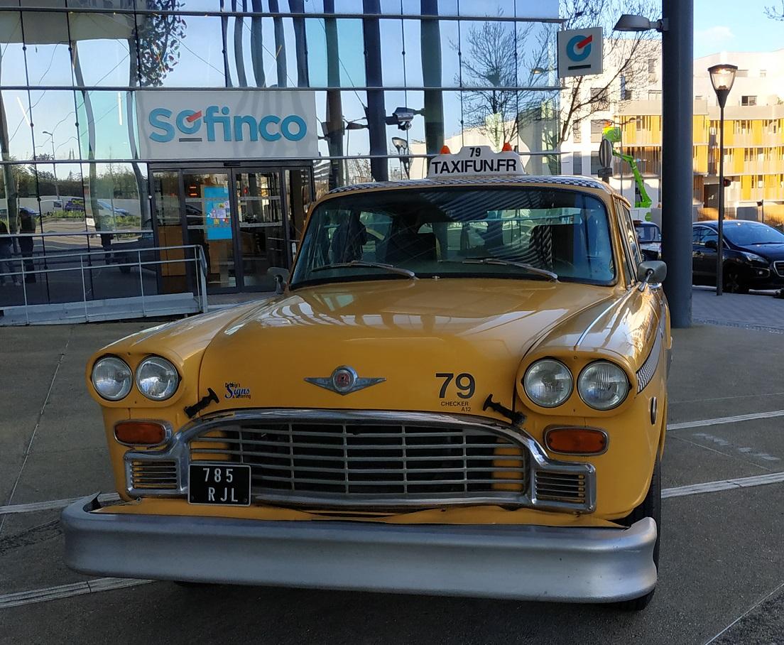 TaxiFun Taxi New Yorkais Yellow Cab pour événement Crédit Agricole SOFINCO