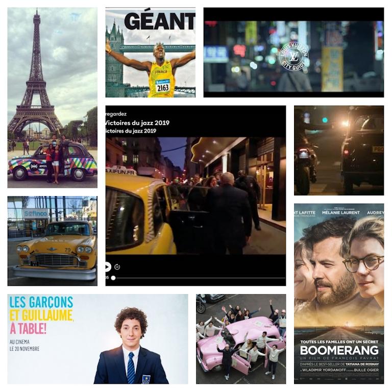 taxi anglais taxi new yorkais pour publicités, campagnes communication, tournages clips vidéo films long métrage