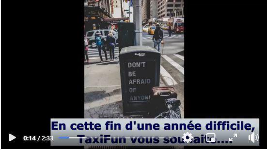 video de taxifun pour le nouvel an 2020 2021
