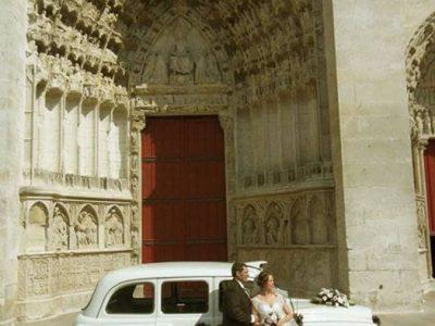 """Le """"Taxi Blanc"""" de TaxiFun de mariage à Auxerre"""